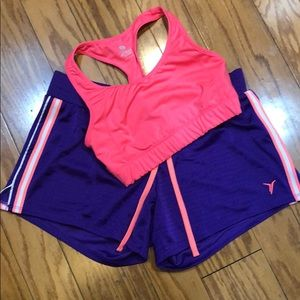 Old Navy active bra top and shorts